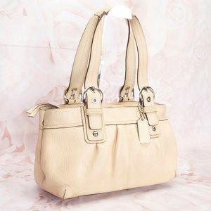 Coach Soho Leather Pleated Shoulder Handbag Purse